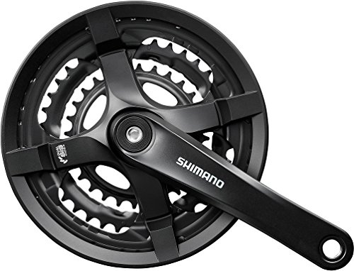 Shimano FC-TY501 Kurbelgarnitur 6/7/8-fach 48-38-28 Z. mit Kettenschutzring Schwarz Kurbelarmlänge 175 mm 2018 MTB