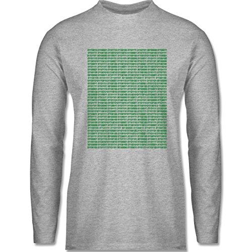 Shirtracer Programmierer - Binärcode - Herren Langarmshirt Grau Meliert