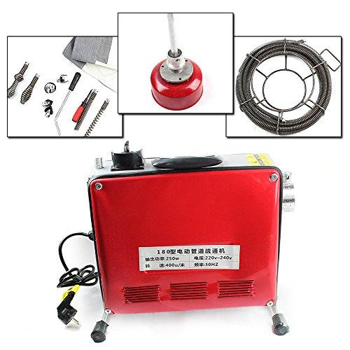 OUKANING 250W Rohrreinigungsmaschine Rohrreiniger Elektrisch Drain Cleaner 20-100mm 400 u/M