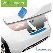 LEGENDARDO© Ladekantenschutz für Volkswagen / Premium Stoßstangenschutz inkl. Rakel und Anleitung zur ultraleichten Montage / Lackschutzfolie PERFEKT ANGEPASST & GETESTET für VW, Fahrzeugmodell:Golf Sportsvan (ab BJ 04/2014), Folientyp:Transparent