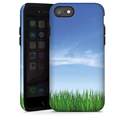 Apple iPhone X Silikon Hülle Case Schutzhülle Wiese Horizont Gras Tough Case glänzend