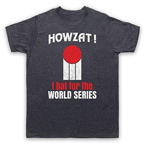 Howzat I Bat For The World Series As Worn By Dennis Lillee Herren T-Shirt Jahrgang Schiefer