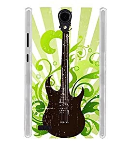 Graphic Guitar Soft Silicon Rubberized Back Case Cover for Panasonic T45 4G :: Panasonic T45