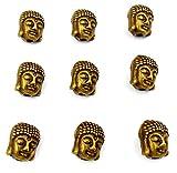 Jaz's Bronze Colour Sharp Dual Sided Tibetan Buddha Bead for Bracelet Necklace Jewelry Making Pack of 10pcs. Size-11x9 mm1