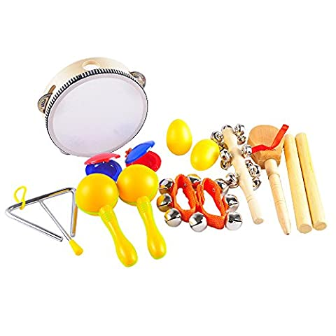 aGreatLife Musical Instruments for Kids - Percussion Set 9 - Player Band Set For Developing Musical Talents