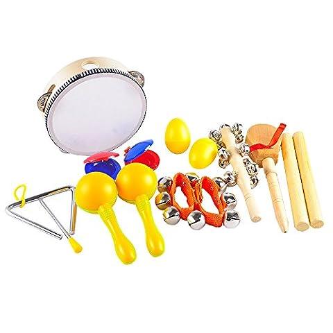 aGreatLife Musikinstrumente Set für Kinder - Schlagzeugstarterbastelsatz 9- Spieler-Band Set für die Entwicklung von musikalischen (High School Musical-pack)