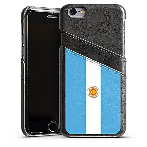 Apple iPhone SE Housse Outdoor Étui militaire Coque Argentin Drapeau Argentine Étui en cuir gris