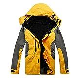 Wenyujh Homme Veste Épais Fonctionnelle avec Softshell Amovible Manteau d'Extérieur Imperméable Alpinisme Hiver