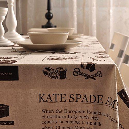 Maoge tovaglia moderna semplice della famiglia tovaglia rurale tessuto cotone lino tabella di tè pulito panno di tabella oblunga-vari stili.-e 140x250cm(55x98inch)