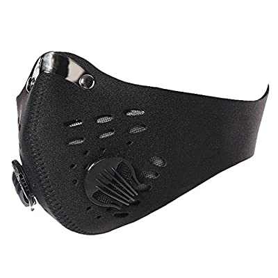 Jonty ™ Black Neoprene N95 Anti-Pollution Activated Carbon Face Mask with Breathing Valve