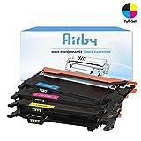 Airby® Ensemble Complet CLT-P406C  Cartouche Compatible Pour Samsung Xpress CLP-360, CLP-365, CLX-3300, CLX-3305, CLX-3305 Xpress C410W, SL-C460FW