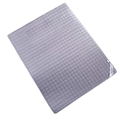 Futon Faltbare Matratze, Bio-Baumwolle Memory-Matratze mit gepolsterten Schaum Japanische Traditionelle Matratze Futon Grau Anti-Rutsch-Anti-Milbe mit 3 Größen
