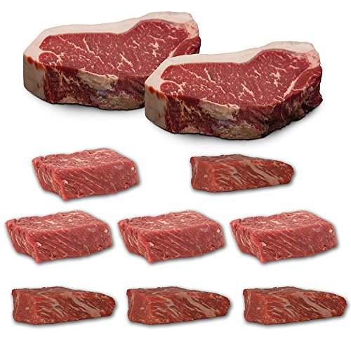 US Black Angus Steak Probierpaket - Strip Loin Steak / Tri Tip / Top Butt Flap Steak