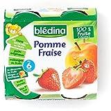 Blédina Pomme Et Fraise (6 Mois) 4 X 130G - Paquet de 2