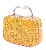 Borsa Grano Di Pietra Cosmetici Portatili Casi Trucco Professionale Bellezza,Orange-20*15*8cm