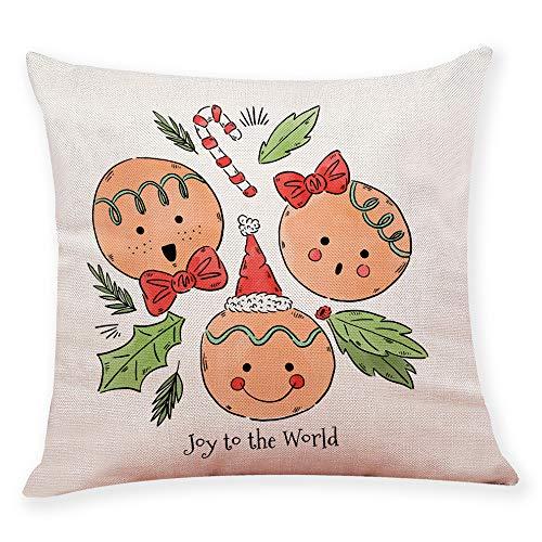 ABsoar Kissenbezuge Weihnachten Kissenhülle Dekokissen Throw Pillow Covers Bettwäsche Für Autos Sofakissen Startseite Dekorative Weihnachten Cover Decor Sofa Taille Wurf Kissenbezug