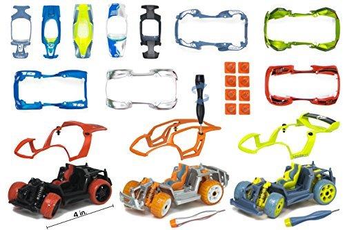 Modarri Deluxe bauen Ihr Auto-Kit Spielzeug-Set (S1, X1, T1), Ultimate Toy Car, machen Sie Ihr eigenes Auto Spielzeug für Tausende von Designs, echte Lenkung und Aufhängung, Pädagogische Take Apart Spielzeug Auto für Kinder