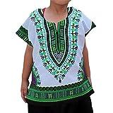 Obestseller Jungenbekleidung,Jungen Mädchen Kinder Baby Unisex helle afrikanische Farbe Kind T Shirt Tee Tops Ethnische Windbluse,Sommerkleidung,Unisex
