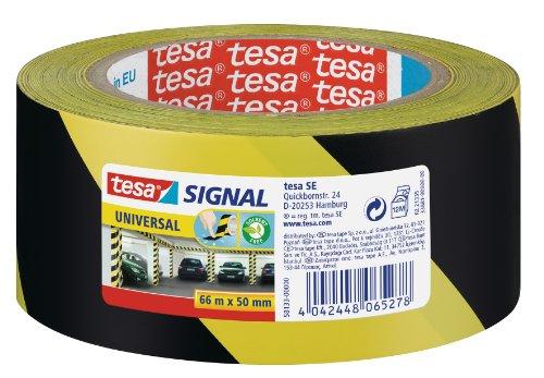 Tesa 210321 - Ruban adhésif universel de marquage et signalisation, jaune/noir