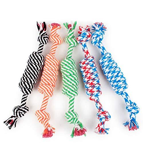 Dafang Premium Hundespielzeug für großen Hund Hundeseil Geflochten Einfach Reinigen Reißfest sehr Stark, für Apportieren, Fangen, Werfen, Tauziehen (5er Set),setof5 (Hundespielzeug Sehr Groß)