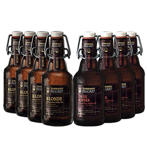 flensburger bier Flensburger BrauArt Paket von BierSelect - 8 Flensburger BrauArt Spezialitäten in einem Paket