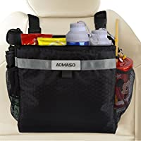 Aomaso Car Garbage Can,Best Auto Trash Bag for Litter, FREE Waste Basket Liners - Hanging Recycle Kit is Universal, Waterproof Organizer Makes a Great Drink Cooler & Road Trip Gift,Black