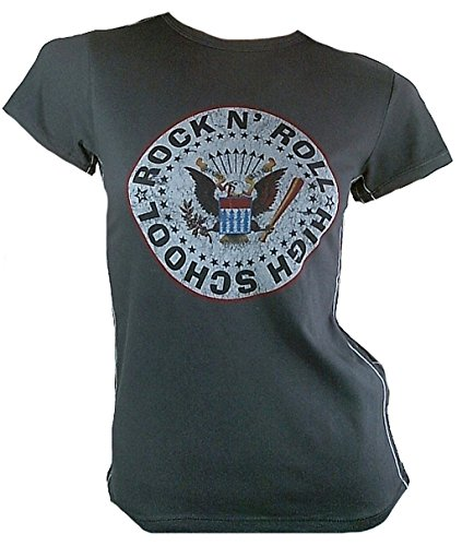 Bravado Vintage Damen T-Shirt Grau Official The Ramones Rock n Roll Highschool S 36 -