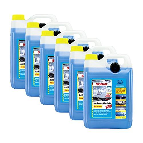 SONAX 6 x 03325050 Concentré Anti Frost & klarsicht Protection Anti-Gel waschanlage 5L