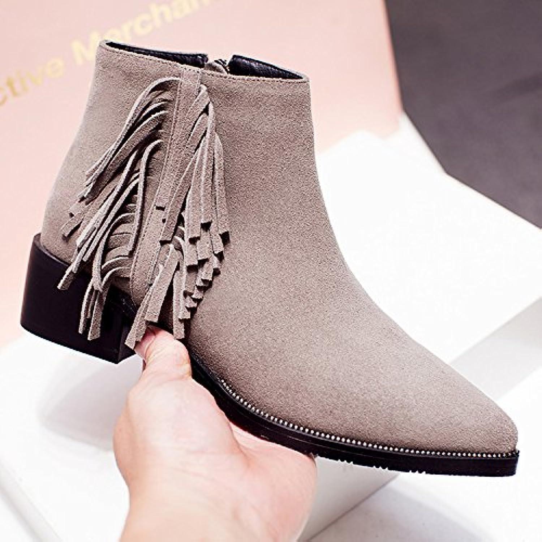 NSXZ nappe in pelle opaca delle donne con gli stivali a punta stivaletti , 39 | Design Accattivante  | Scolaro/Ragazze Scarpa