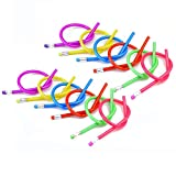 Lumanuby Lot de 12crayons à papier Flexible Magic Crayons pliable souple de crayon Crayons Stylos magique pour enfant Cadeau école Maternelle école outils de peinture 18cm