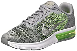 Nike Air Max Sequent 2 Gs, Boy's Sneakers, Grey (Stealthmtlc Silverelectric Greenanthracitewhitevolt), 6 Uk (39 Eu)