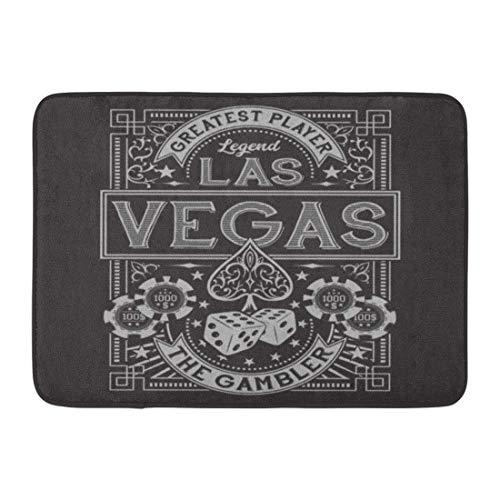 920c21678496 Soefipok Paillassons Tapis de Bain Tapis de Porte Extérieur/Intérieur Poker  Vintage Gamble Casino Las Vegas Tee Graphics Ace Spade Jeu Ville Salle ...