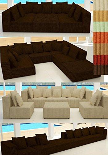 ::: MODELL HOLLYWOOD IN CORD: DESIGNER WOHNLANDSCHAFT: 6 LUXUSTEILE + 14 KISSEN NEU! in 7 CORD Farben zur Auswahl, KOSTENLOSER VERSAND in AT & DE !, BERATUNG: Tel: 0043(1)715-16-16, (Mo. bis Fr. 9.30 bis 15 Uhr) oder E-Mail: office.at@vienna-international-furniture.com :::