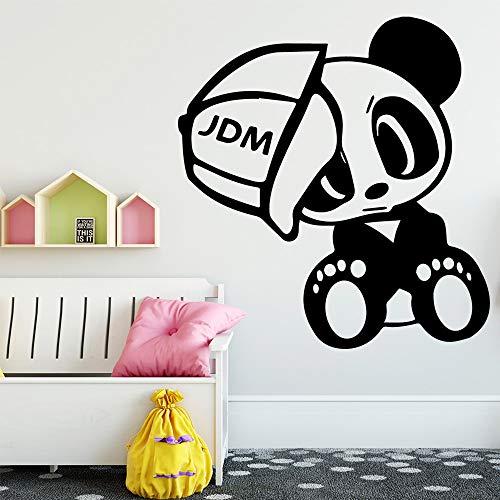 Lustige Panda Wandkunst Aufkleber Wandkunst Aufkleber Wandbilder Für Baby Kinderzimmer Dekor Wandtattoo Haus Dekoration Zubehör Wandaufkleber Aus Hausgarten Kaffee M 30 cm X 30 cm