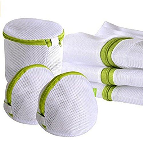 Lalang Wäschesack, Wäschenetz Wäschebeutel mit Reißverschluss Ideal für BH Waschbeutel, Unterwäsche, Socken, Strumpfhosen, Babysachen, 6er Set verschiedene Größen