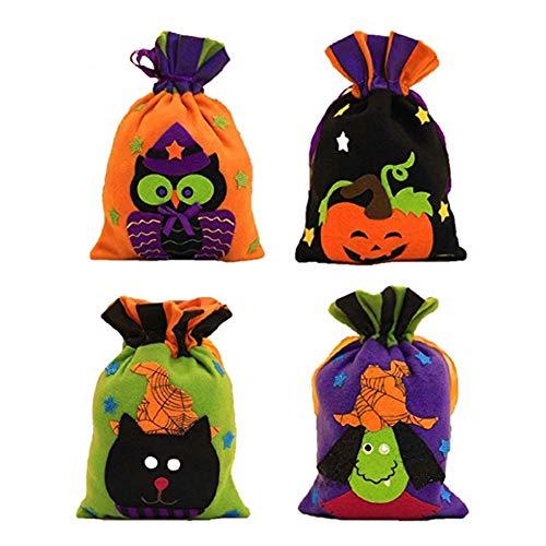 Jspoir Melodiz Halloween Trick or Treat Taschen Süßigkeitstaschen Geschenk-Taschen Portable Tasche für Kinder für Halloween-Kostüm für Kinder (Eule)
