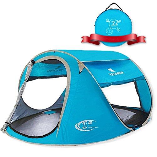 Zomake tenda da spiaggia portatile per bambini esterni, 3 - 4 persone pop up tenda con protezione solare ( blu chiaro)