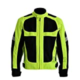 Chaqueta para motocicleta respirable para verano, chaqueta para motocross, carreras y conducción todoterreno, resistente al viento, con protecciones rígidas