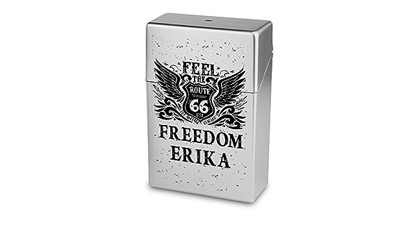 Zigarettenbox mit Namen Klaus Kunststoffbox Personalisierte H/ülle mit Design Route 66 Zigarettenetui Zigarettenschachtel