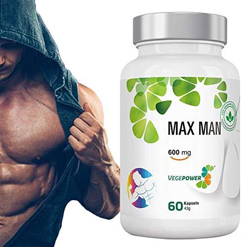 Testosterone Booster Ergänzung für Mann, Steigert die Muskelkraft, Sorgt Höheres Energie-Level und Ausdauer - Mit Bockshornklee, Maca, Tribulus terrestris, L-Arginin - 30 Tage Versorgung - Niedrigen Testosteron