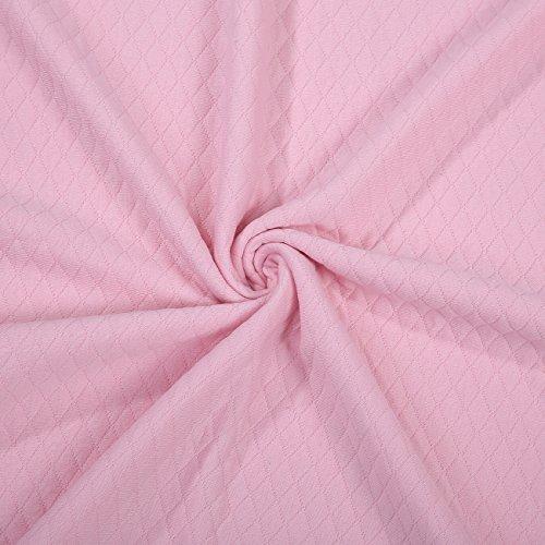 Baumwolle Gefühl Diamond Quilt Stoff Knit Jersey Neotrims Double Layer Material. Baby Fotografie Bekleidung & Craft Dekoration. Harlequin Stitch Muster, isolierend, Futter Eigentum, Textil, hellrosa, 2 m (Ribbon-aus Baumwolle-jersey Pink)