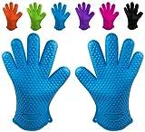 Belmalia Backhandschuhe, 2X Silikon, Blau, 27.517.52.2cm