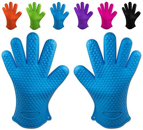 Belmalia Backhandschuhe, 2X Silikon, Blau, 27.517.52.2cm Max Mitt
