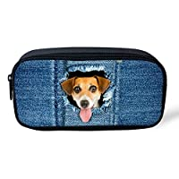 Cute 3D Animal Cat Cosmetic Bags Small Portable Make Up Bag for Women Zipper Pencil Case Fashion Brand Grisl Children Pen Box (Dog)