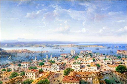 POSTERLOUNGE Forex 30 x 20 cm: View of Sebastopol de Carlo Bossoli/Bridgeman Images