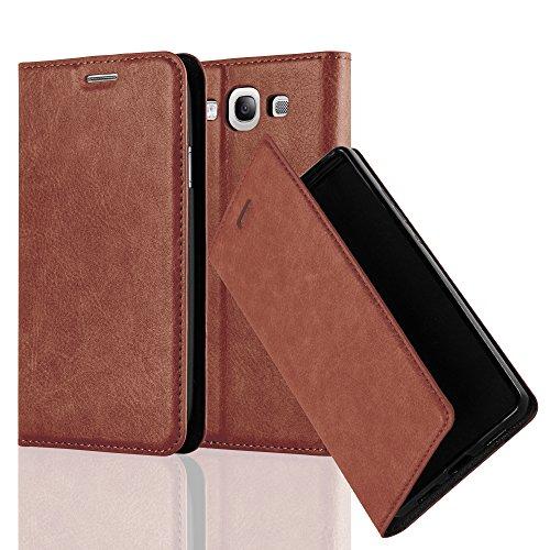 Preisvergleich Produktbild Cadorabo Hülle für Samsung Galaxy S3 / S3 NEO - Hülle in Cappuccino BRAUN - Handyhülle mit Magnetverschluss,  Standfunktion und Kartenfach - Case Cover Schutzhülle Etui Tasche Book Klapp Style