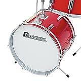 Dimavery 059145 JDS-203 Set de Tambour pour Enfant Rouge