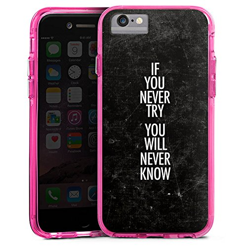 Apple iPhone 8 Bumper Hülle Bumper Case Glitzer Hülle Sayings Phrases Sprüche Bumper Case transparent pink