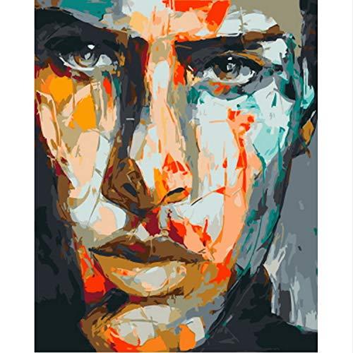 MEIMING1314 Malen Nach Zahlen Kits Wandkunst Geschenk für Erwachsene und Kinder Home Decor - Elvis 40 * 50cm 16 * 20inch -