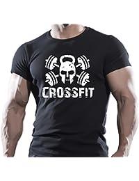 De Cross Fit WOD Fitness Sport de entrenamiento para dejar el fuerza de entrenamiento diseño funcional negro T-Shirt